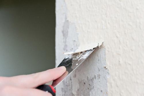 C mo quitar el gotel antes de pintar la pared bdbn - Como quitar el gotele de una pared ...